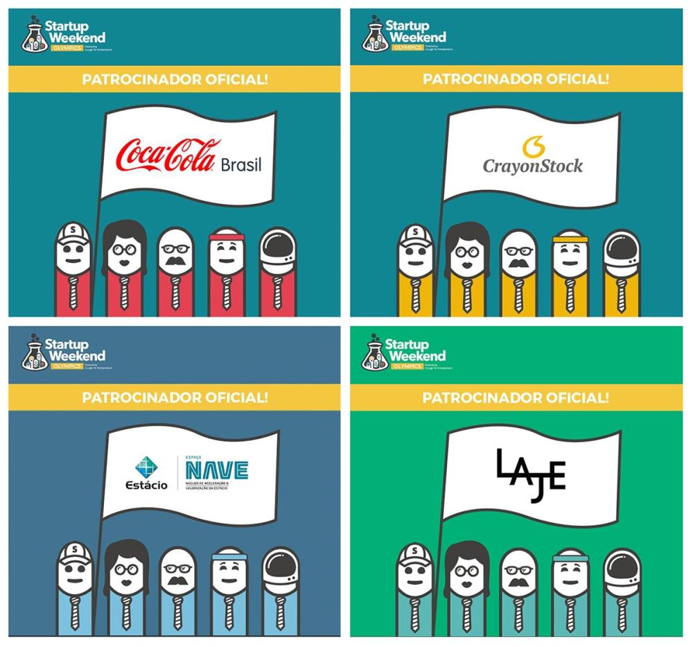 Patrocinadores do #SWOlympicsRio: Coca-Cola Brasil, CrayonStock, Estácio / Nave e Laje.